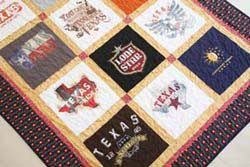 A Texas T-Shirt Quilt from Texas shirts